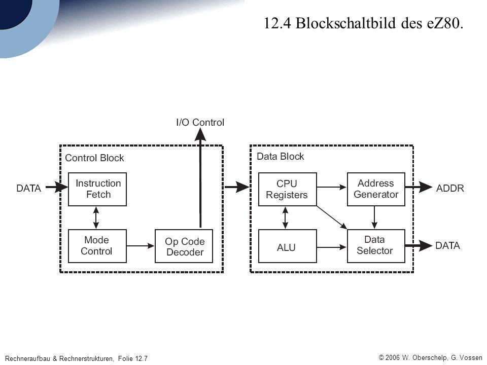 © 2006 W. Oberschelp, G. Vossen Rechneraufbau & Rechnerstrukturen, Folie 12.7 12.4 Blockschaltbild des eZ80.