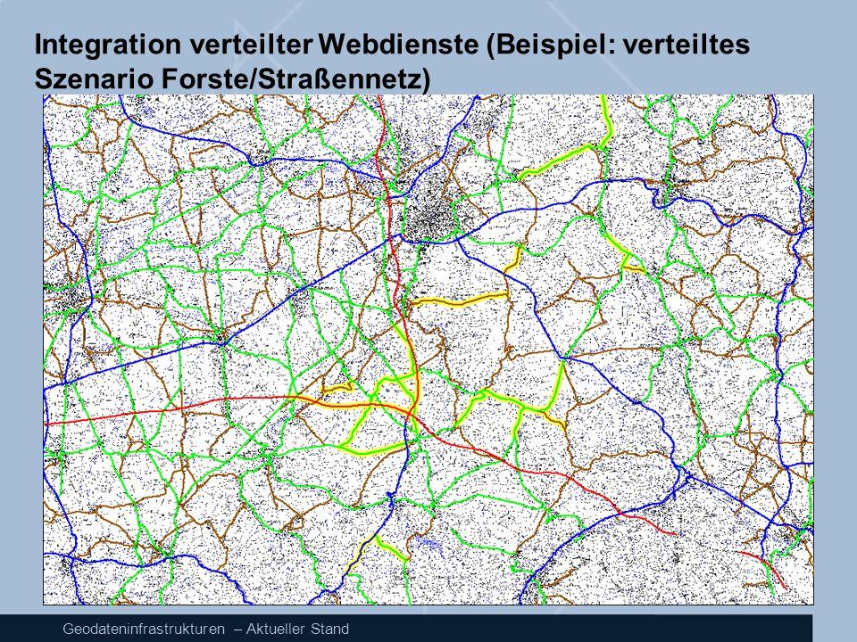Geodateninfrastrukturen – Aktueller Stand Integration verteilter Webdienste (Beispiel: verteiltes Szenario Forste/Straßennetz)