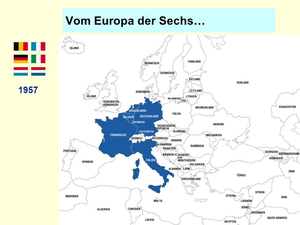 …über das Europa der Neun… 1973 Nord- Erwei- terung