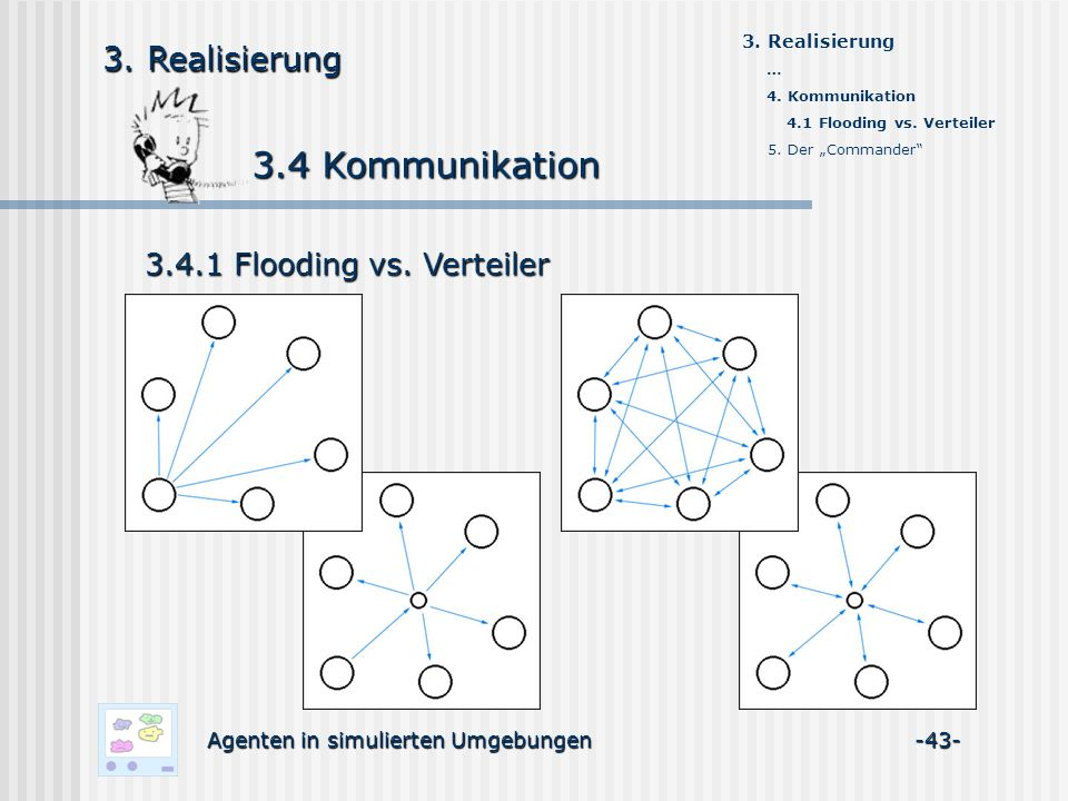 3.4 Kommunikation 3.4 Kommunikation Agenten in simulierten Umgebungen -43- 3.