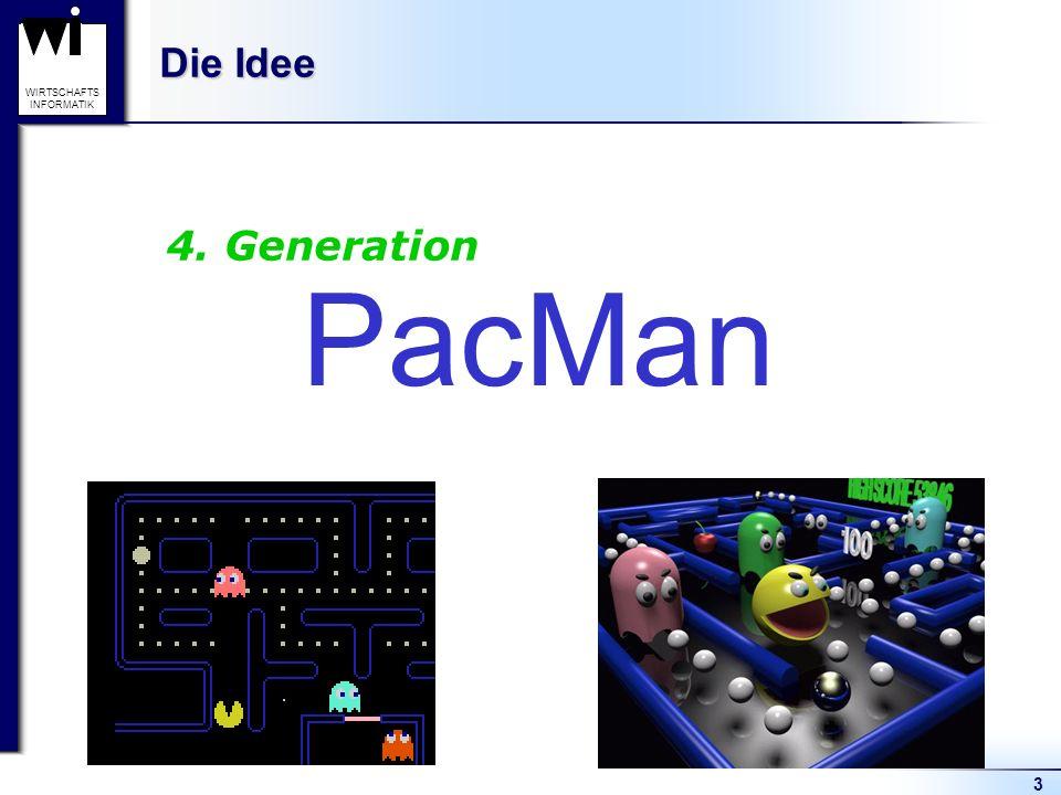 3 WIRTSCHAFTS INFORMATIK Die Idee PacMan 4. Generation