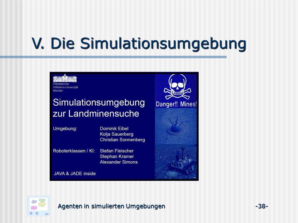 V. Die Simulationsumgebung Agenten in simulierten Umgebungen -38-