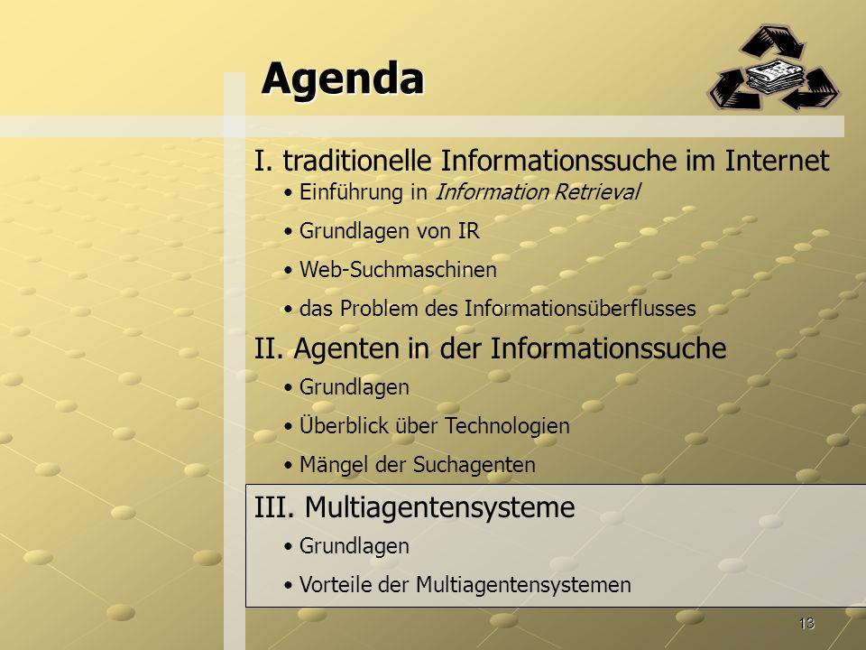 13 Agenda II.