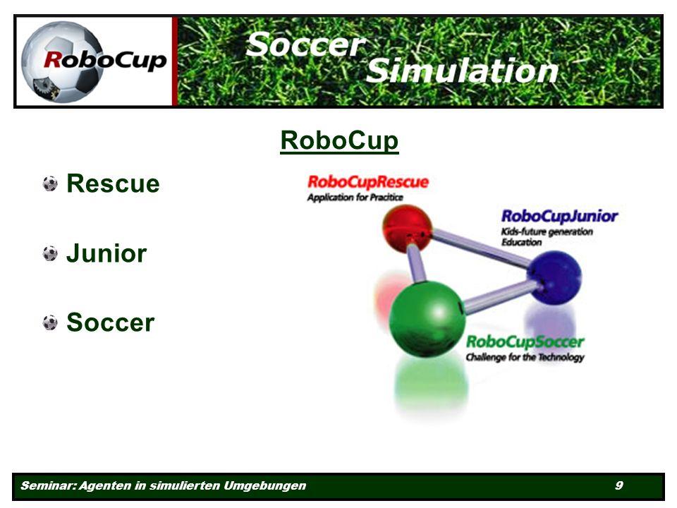 Seminar: Agenten in simulierten Umgebungen 9 RoboCup Rescue Junior Soccer