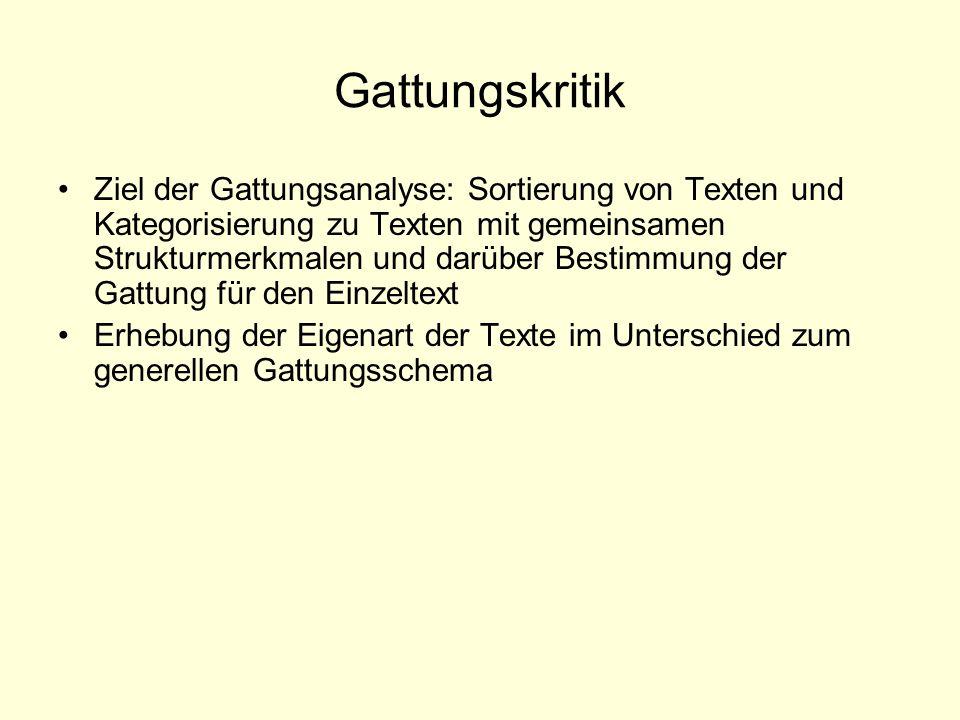 Sitz im Leben Gattungsbestimmung und Bestimmung des Sitzes im Leben v.a.