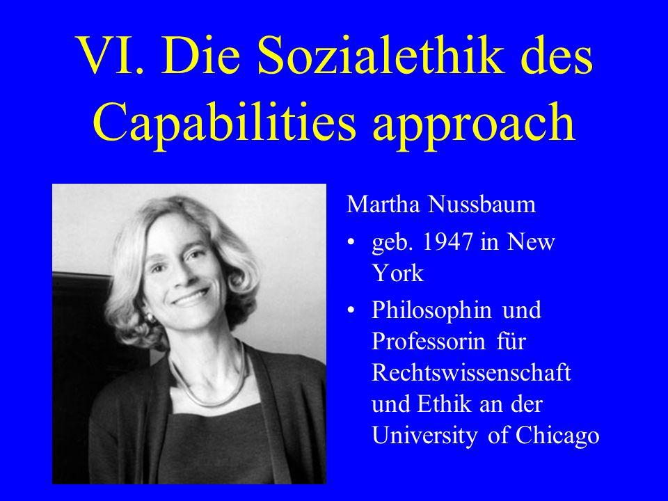 VI.Die Sozialethik des Capabilities approach Amartya Sen geb.