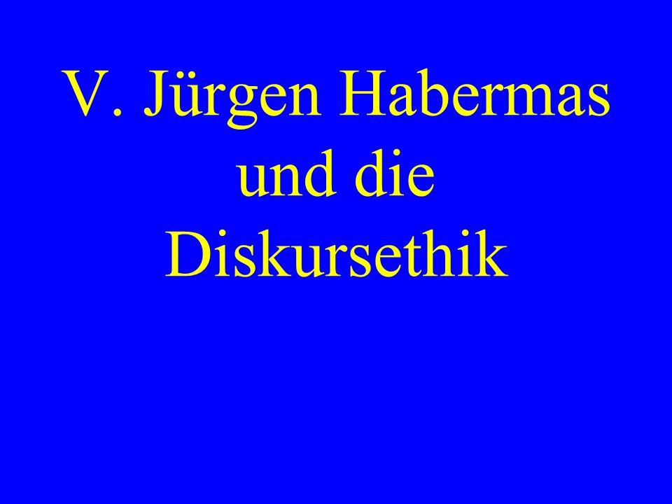 V. Jürgen Habermas und die Diskursethik