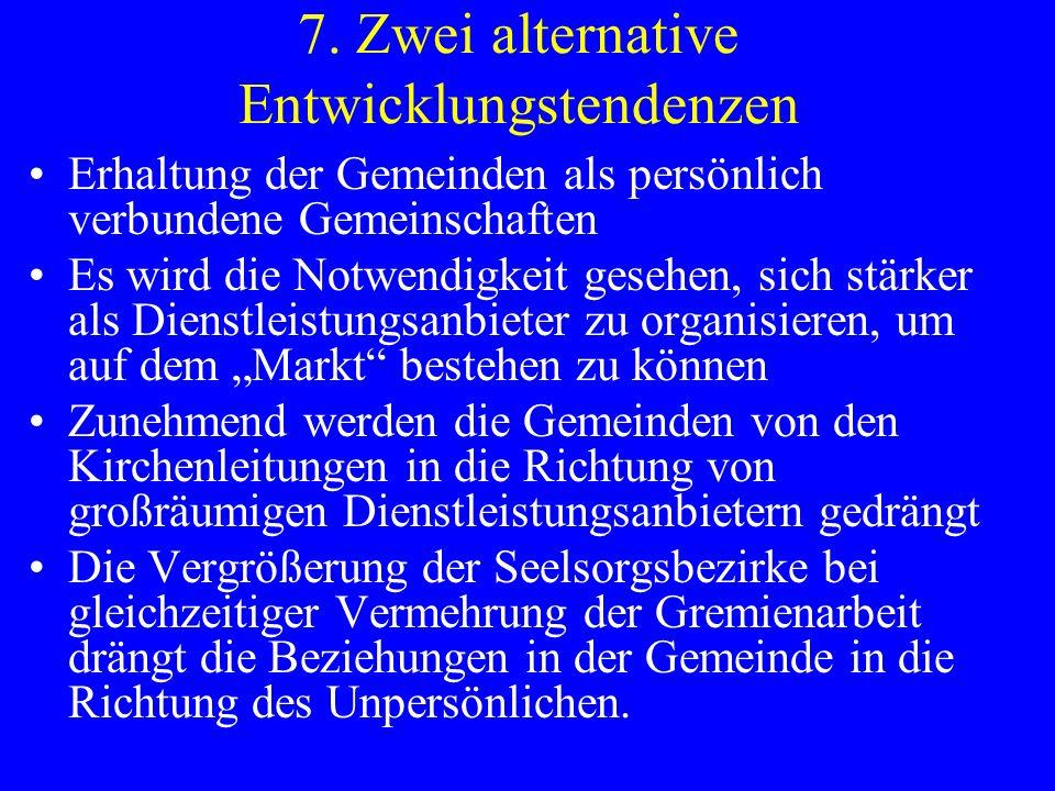 Diskussionsfragen Welche Bedeutung haben Territorialgemeinden als Lernorte des Glaubens (im Verhältnis z.
