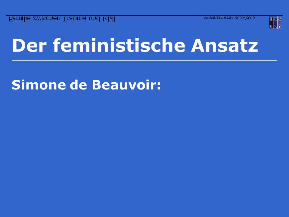 Der feministische Ansatz Simone de Beauvoir: