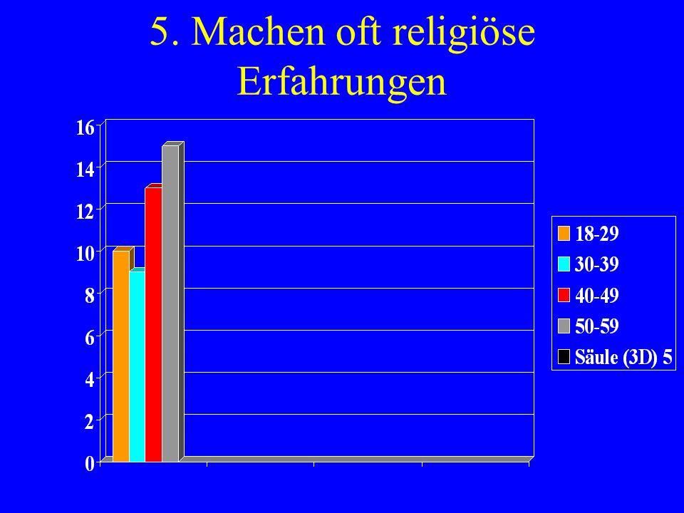 5. Machen oft religiöse Erfahrungen