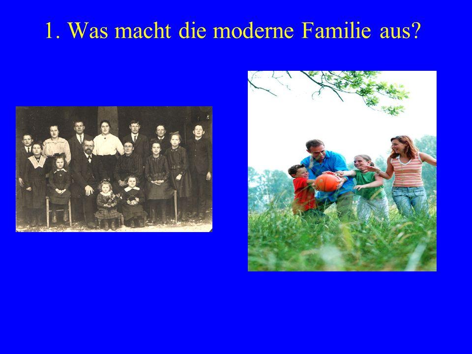 1. Was macht die moderne Familie aus?