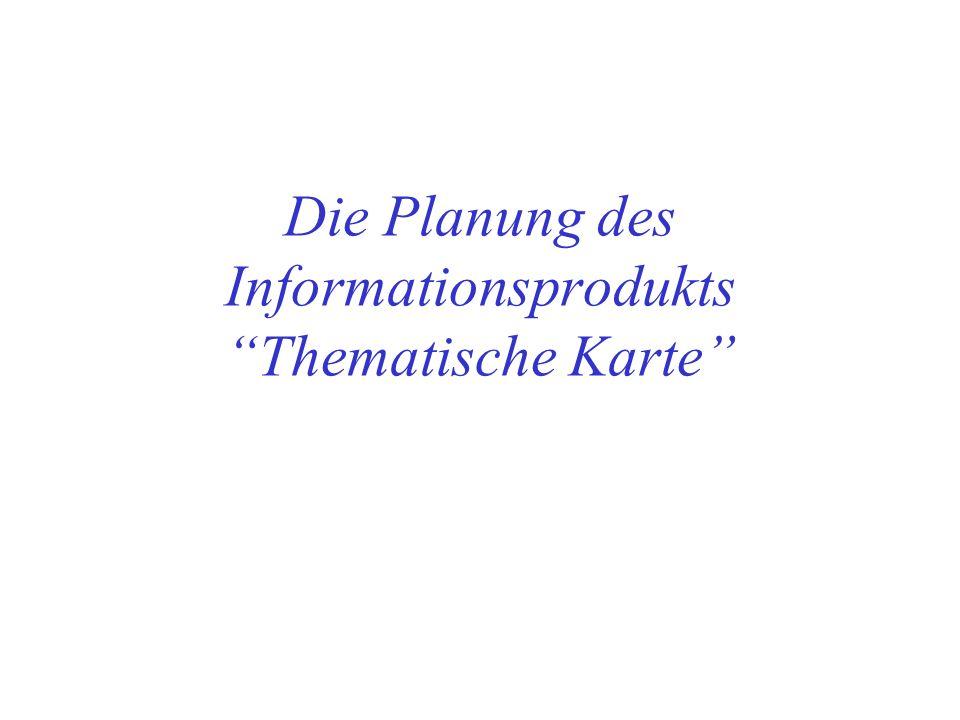 Übersicht Ziele und Inhalt der Planung Form: Der Redaktionsplan Teile eines Redaktionsplans: –Fragestellung –Kartenentwurf –Ausgangsdaten –Herstellungsverfahren –Ressourcen Hinweise auf Literatur zur Thematischen Kartographie