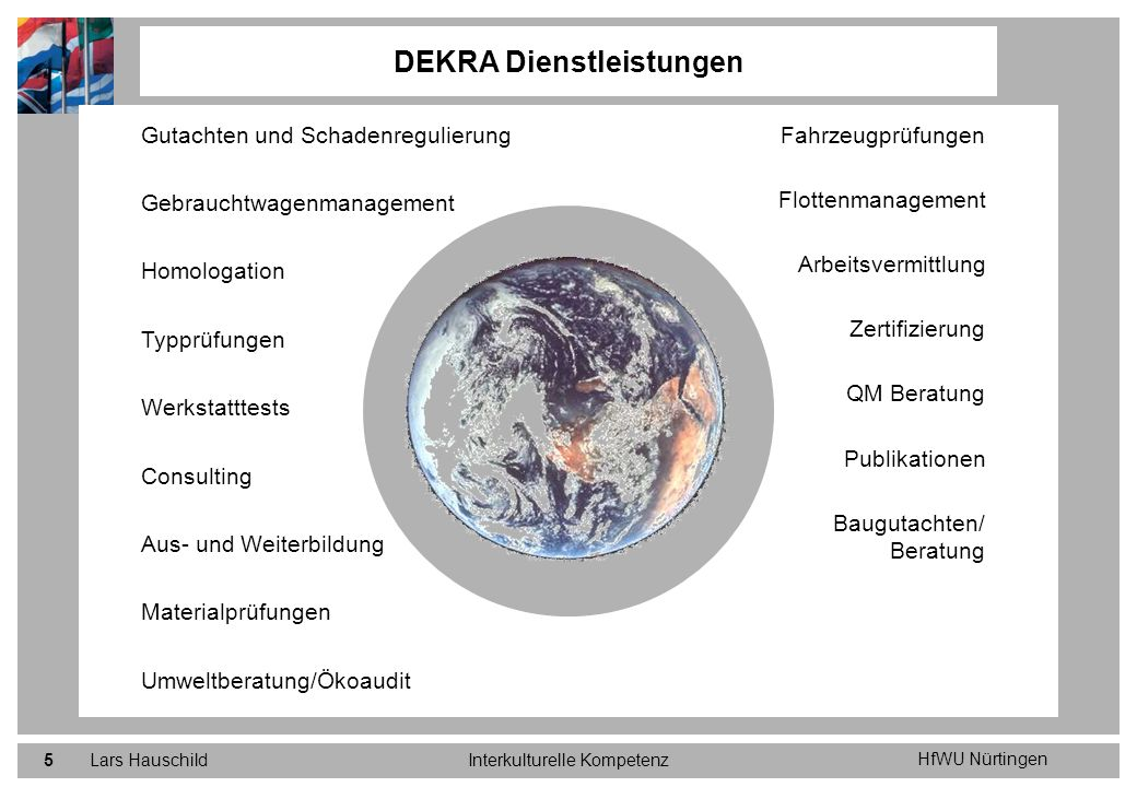 HfWU Nürtingen Lars HauschildInterkulturelle Kompetenz26 Ausgangslage Regulierungsdienstleistungen DCI DCI ist heute in 12 Ländern mit eigenen Gesellschaften und in weiteren 23 Ländern mit Repräsentanten vertreten.