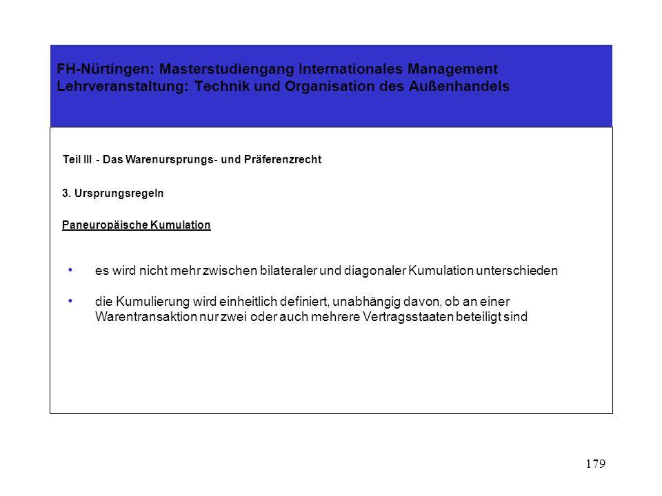 178 Teil II - Das Warenursprungs- und Präferenzrecht 3. Ursprungsregeln Paneuropäische Kumulation Türkei ist in die Regelungen ab 1.1.1999 integriert