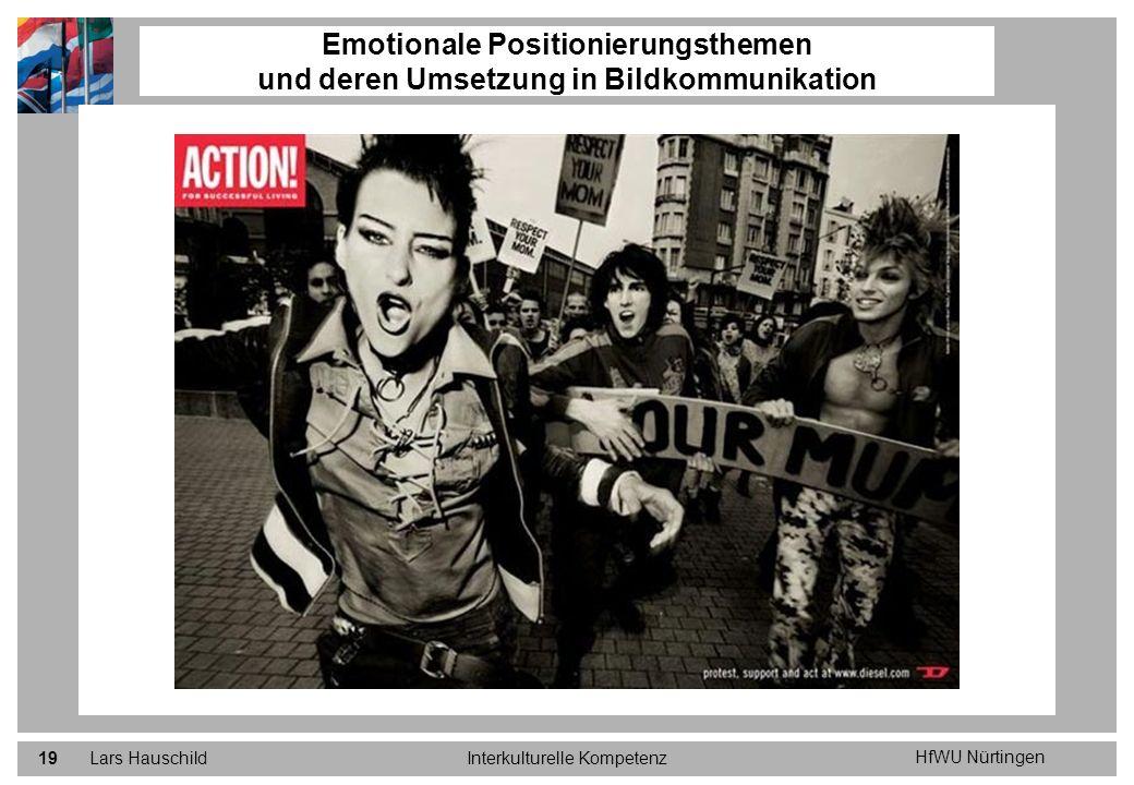 HfWU Nürtingen Lars HauschildInterkulturelle Kompetenz19 Emotionale Positionierungsthemen und deren Umsetzung in Bildkommunikation