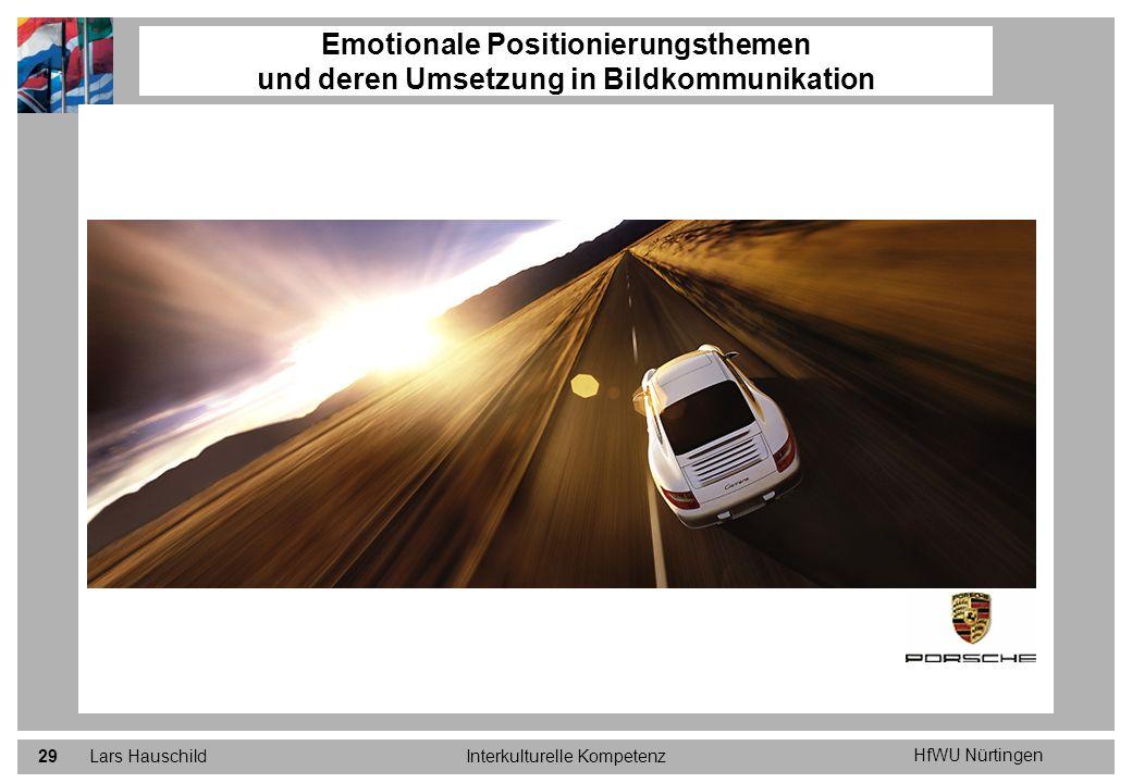 HfWU Nürtingen Lars HauschildInterkulturelle Kompetenz29 Emotionale Positionierungsthemen und deren Umsetzung in Bildkommunikation