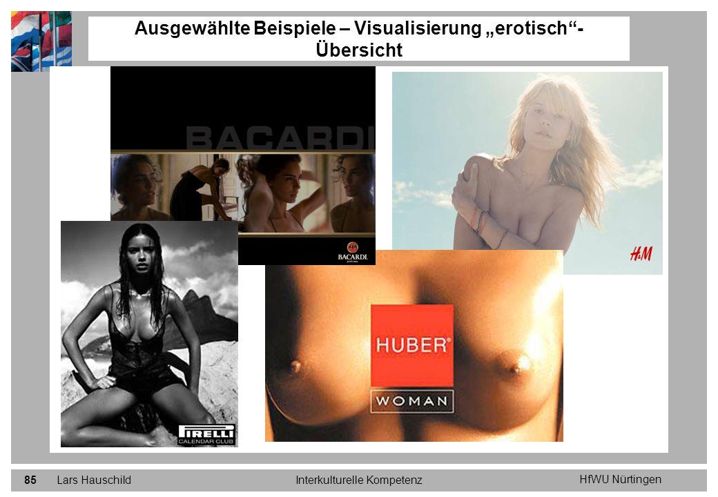 HfWU Nürtingen Lars HauschildInterkulturelle Kompetenz85 Ausgewählte Beispiele – Visualisierung erotisch- Übersicht