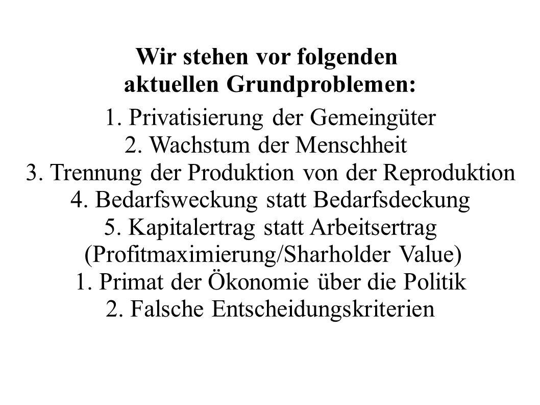 Regulierung des Systems.