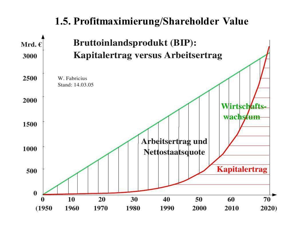 1.5. Profitmaximierung/Shareholder Value