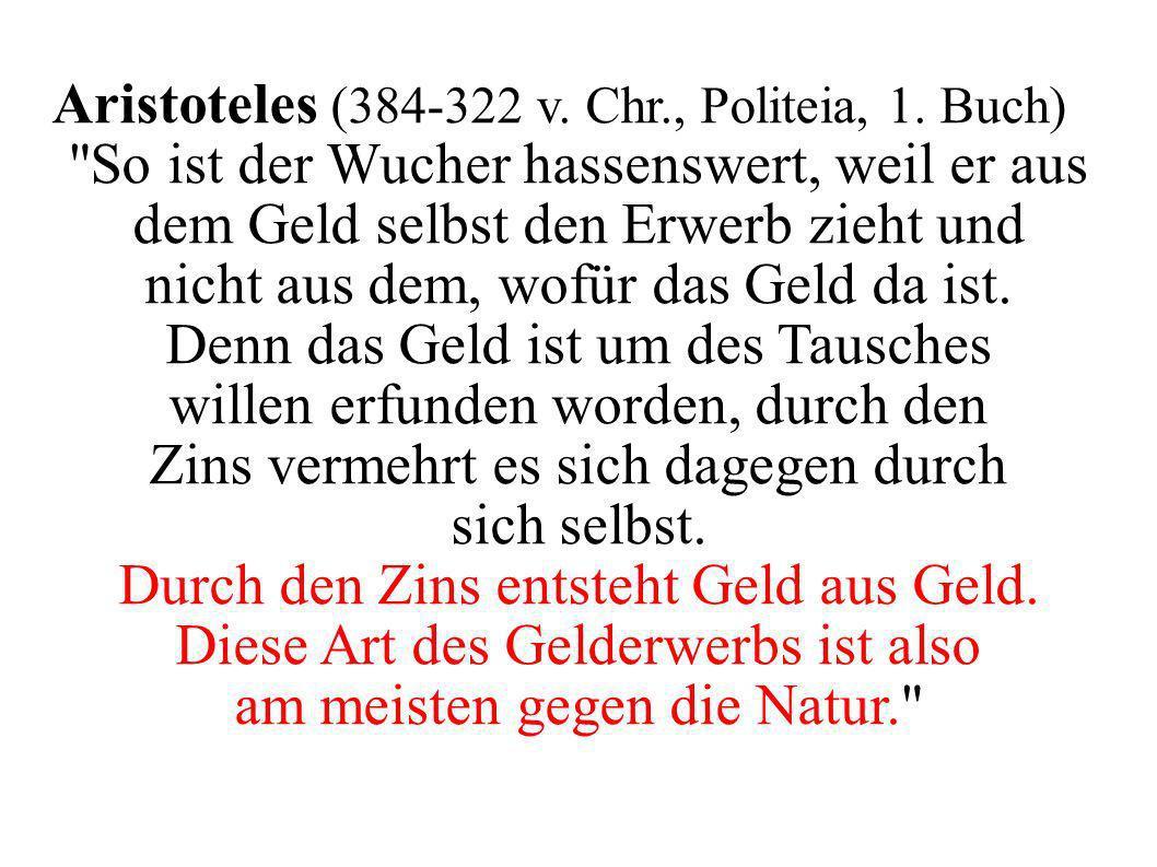 Aristoteles (384-322 v. Chr., Politeia, 1. Buch)