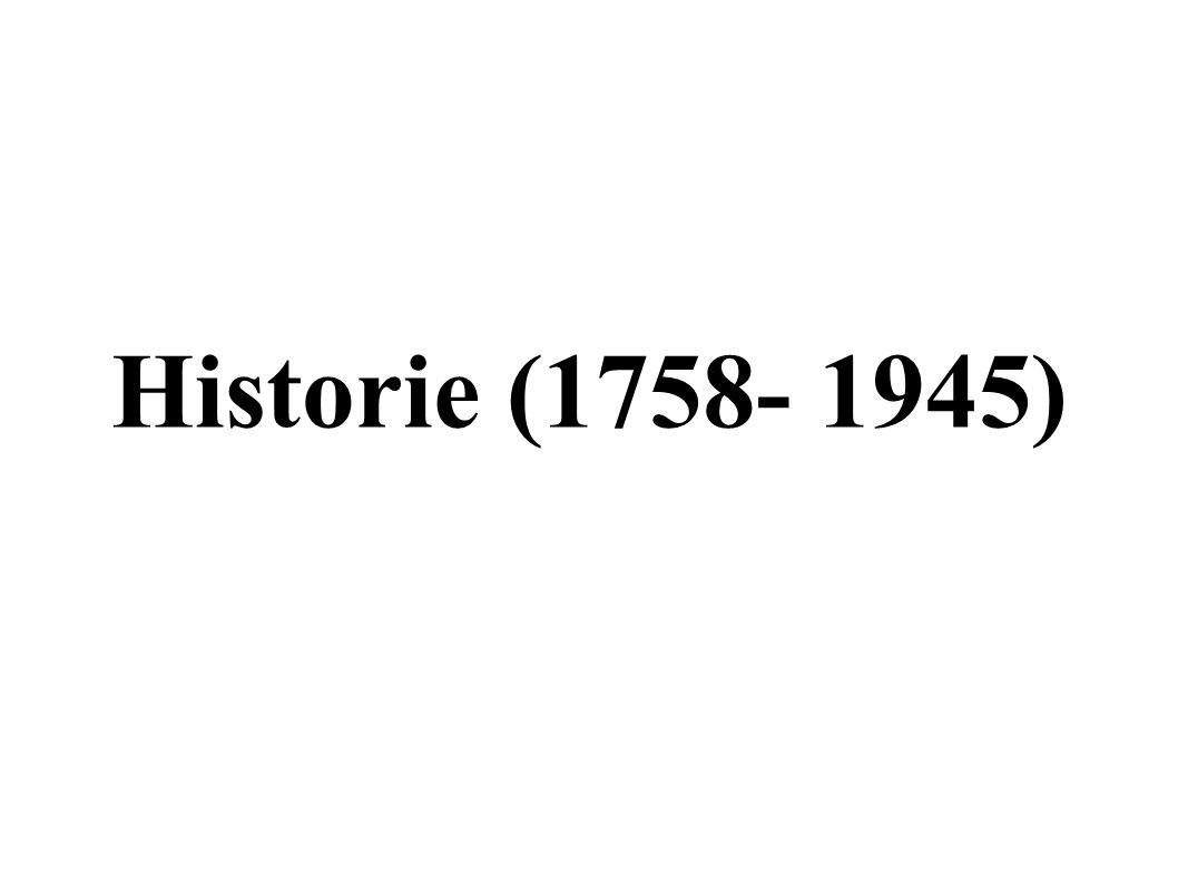 Historie (1758- 1945)