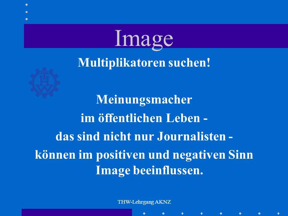 THW-Lehrgang AKNZ Image Multiplikatoren suchen.
