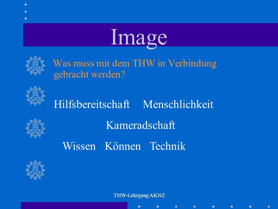 THW-Lehrgang AKNZ Image Was muss mit dem THW in Verbindung gebracht werden.