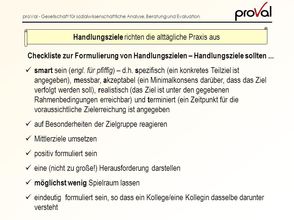 proVal - Gesellschaft für sozialwissenschaftliche Analyse, Beratung und Evaluation smart sein ( engl.