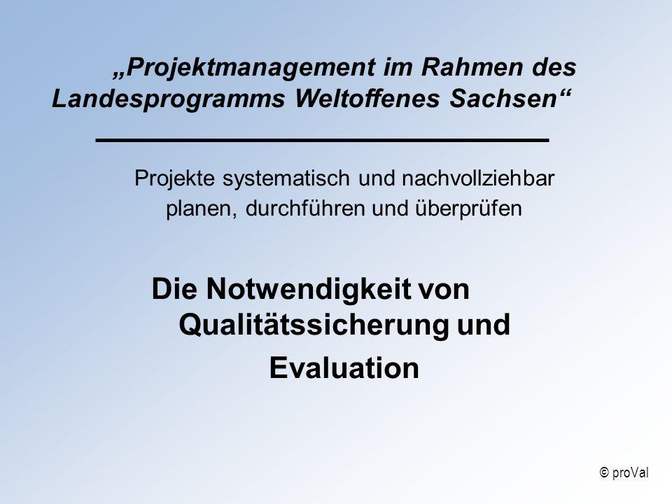 Projektmanagement im Rahmen des Landesprogramms Weltoffenes Sachsen Projekte systematisch und nachvollziehbar planen, durchführen und überprüfen Die N