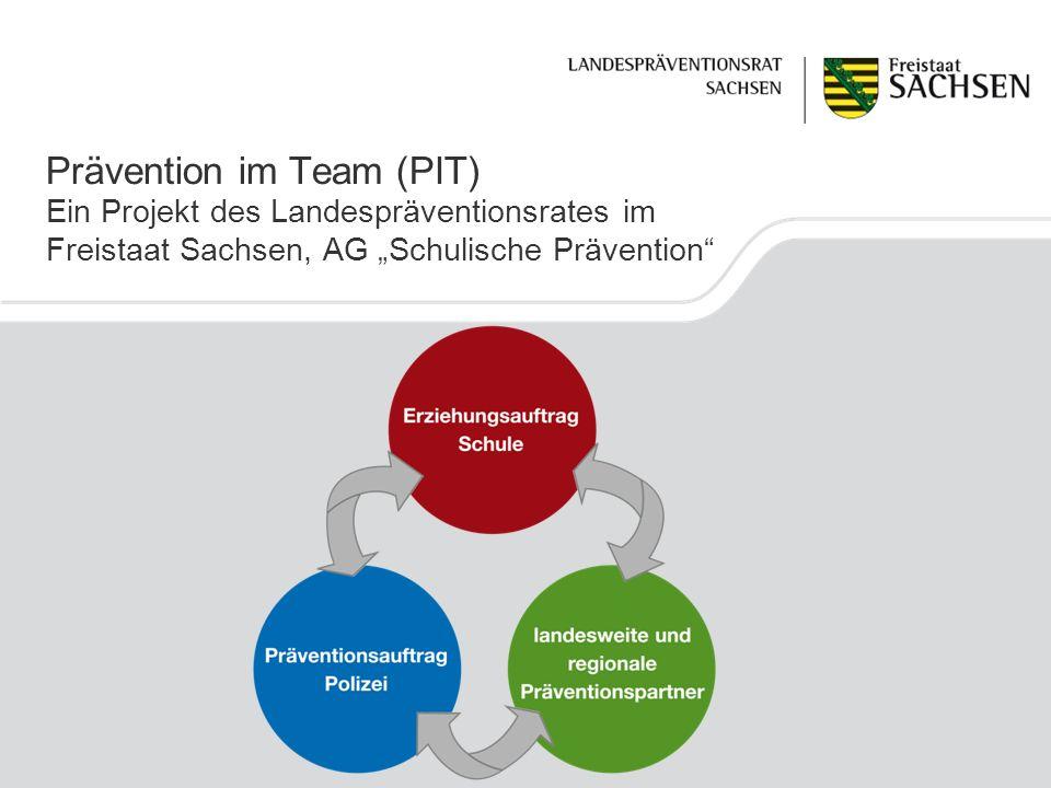 Prävention im Team (PIT) Ein Projekt des Landespräventionsrates im Freistaat Sachsen, AG Schulische Prävention