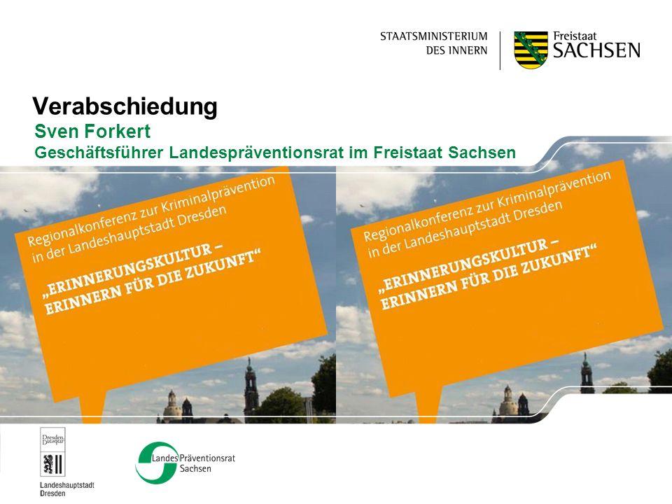 Verabschiedung Sven Forkert Geschäftsführer Landespräventionsrat im Freistaat Sachsen