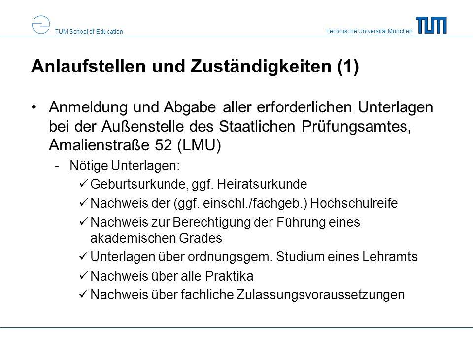 Technische Universität München TUM School of Education Anlaufstellen und Zuständigkeiten (2) Erklärung, dass kein Betreuer wegen einer psychischen Krankheit oder einer geistigen/seelischen Behinderung bestellt ist Erklärung, ob eine rechtskräftige Verurteilung zu einer Freiheitsstrafe von mind.