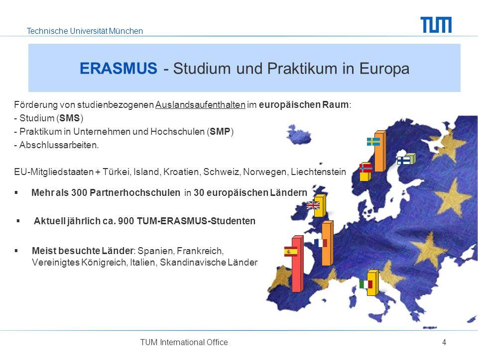 Technische Universität München TUM International Office4 ERASMUS - Studium und Praktikum in Europa