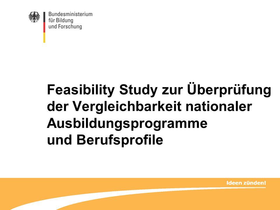 Feasibility Study zur Überprüfung der Vergleichbarkeit nationaler Ausbildungsprogramme und Berufsprofile