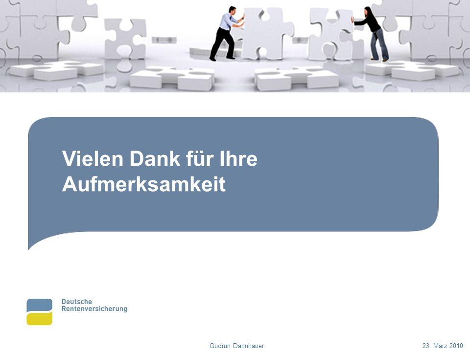 Vielen Dank für Ihre Aufmerksamkeit Gudrun Dannhauer23. März 2010