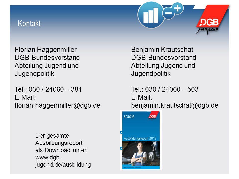 Kontakt Benjamin Krautschat DGB-Bundesvorstand Abteilung Jugend und Jugendpolitik Tel.: 030 / 24060 – 503 E-Mail: benjamin.krautschat@dgb.de Florian H