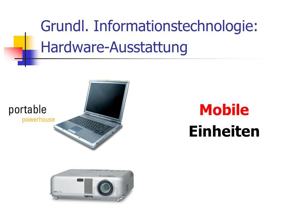 Grundl. Informationstechnologie: Hardware-Ausstattung Mobile Einheiten