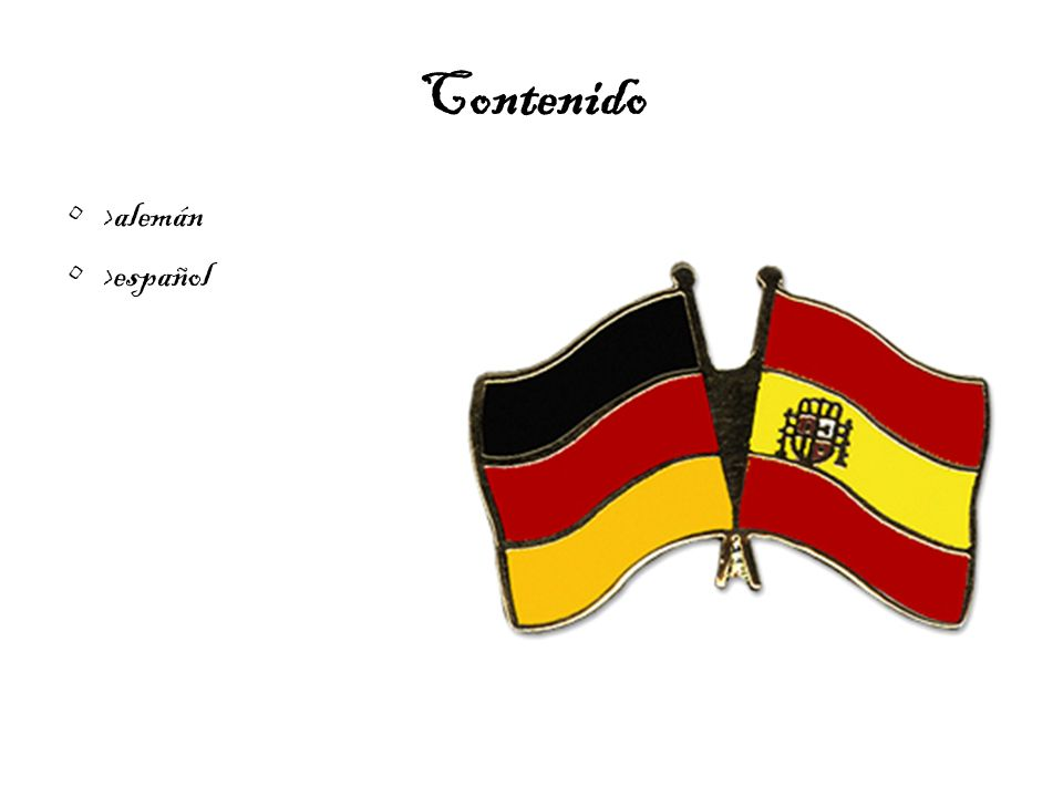 Contenido >alemán >español