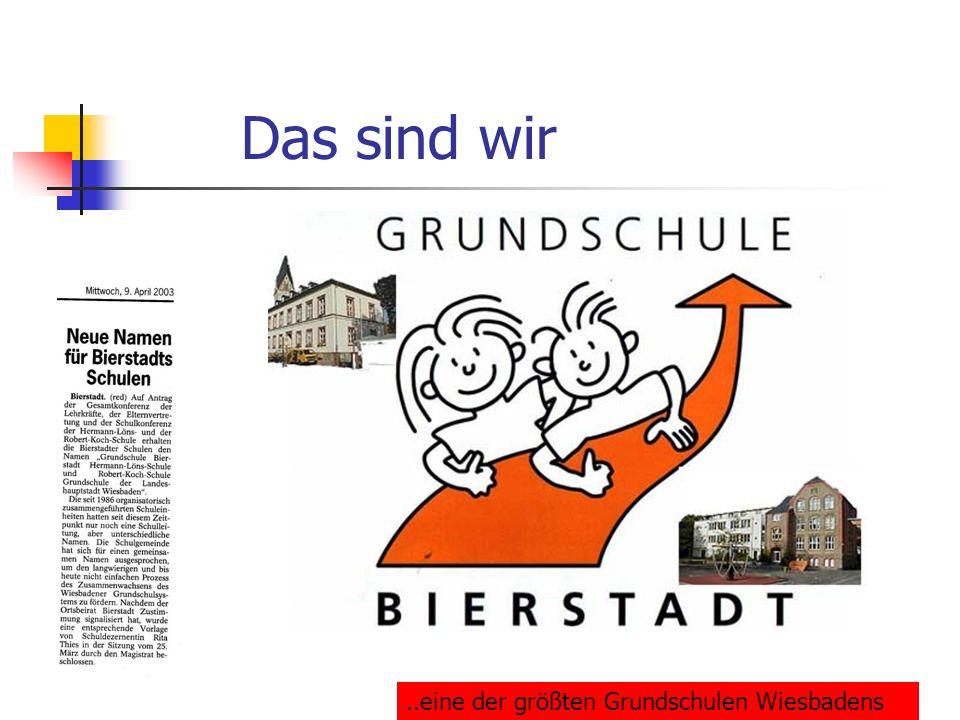 Das sind wir..eine der größten Grundschulen Wiesbadens