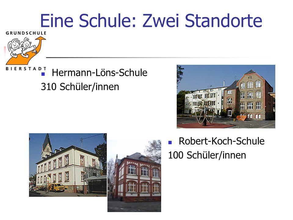Eine Schule: Zwei Standorte Hermann-Löns-Schule 310 Schüler/innen Robert-Koch-Schule 100 Schüler/innen