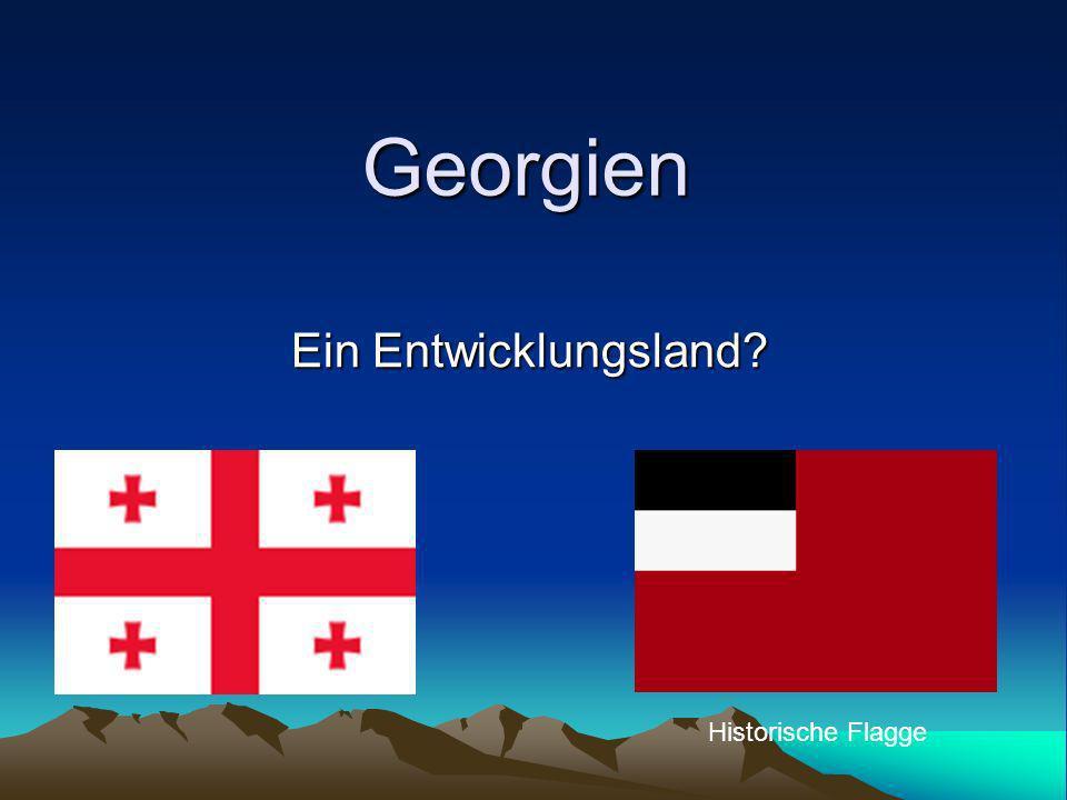 Georgien Ein Entwicklungsland? Historische Flagge