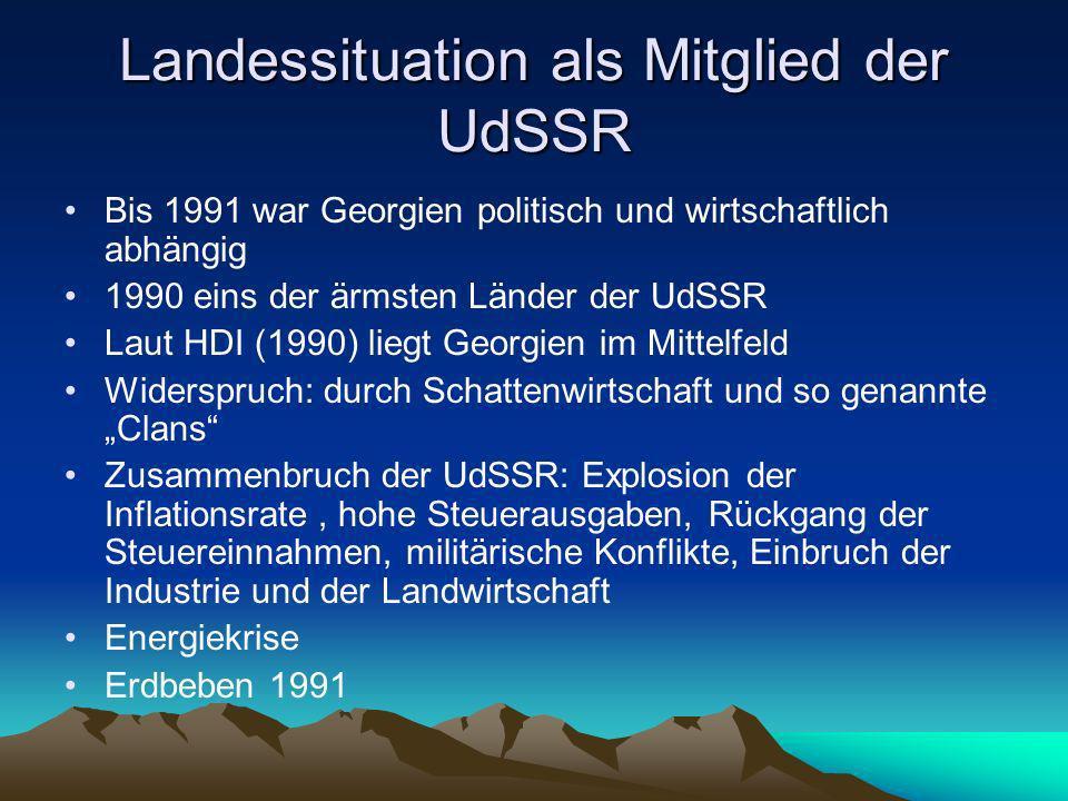 Quellen http://de.wikipedia.org/wiki/Georgien http://www.georgien.bilder- album.com/neu/georgien_gross.jpg www.sakartwelo.de http://www.uni- giessen.de/geographie/phy/akn/kaukasien/imag es/Georgien.jpg www.flaggen-server.de Lehrbuch von Herr Bendl
