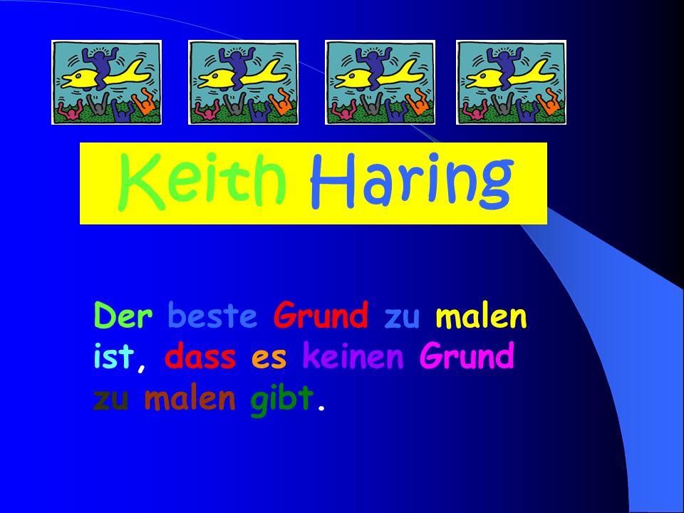 Keith Haring signierte seine Bilder oft mit dem Strahlenbaby.