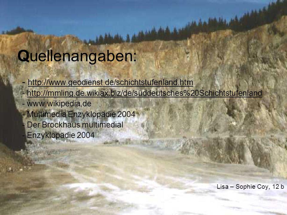 Definitionen: Sedimentgestein = entsteht durch die Ablagerung des Verwitterungsmaterials anderer Gesteine oder durch chemische oder organische Prozesse Karst = Bezeichnung für durch Korrosion entstandene Formen in Kalk- und Gipsgesteinen Korrosion: = im geologischen Sinne versteht man unter dem Begriff Korrosion die Zersetzung von Gesteinsmaterial durch Wasser Antiklinale = nach oben gewölbter Teil einer Falte, entsteht durch Verbiegung von Gesteinen durch tektonische Kräfte Mesozoikum = Ära der Erdgeschichte (vor ca.