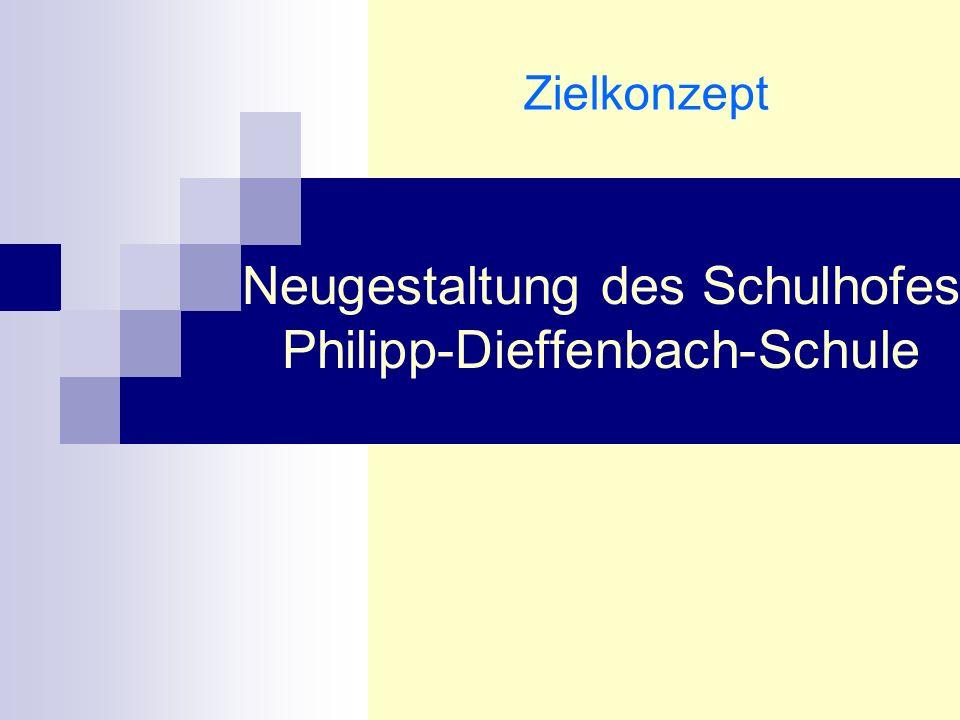 Ausgangslage maroder Schulhof mit Unebenheiten (Sturzgefahr) Kein einladendes und kinderfreundliches Gelände z.T.