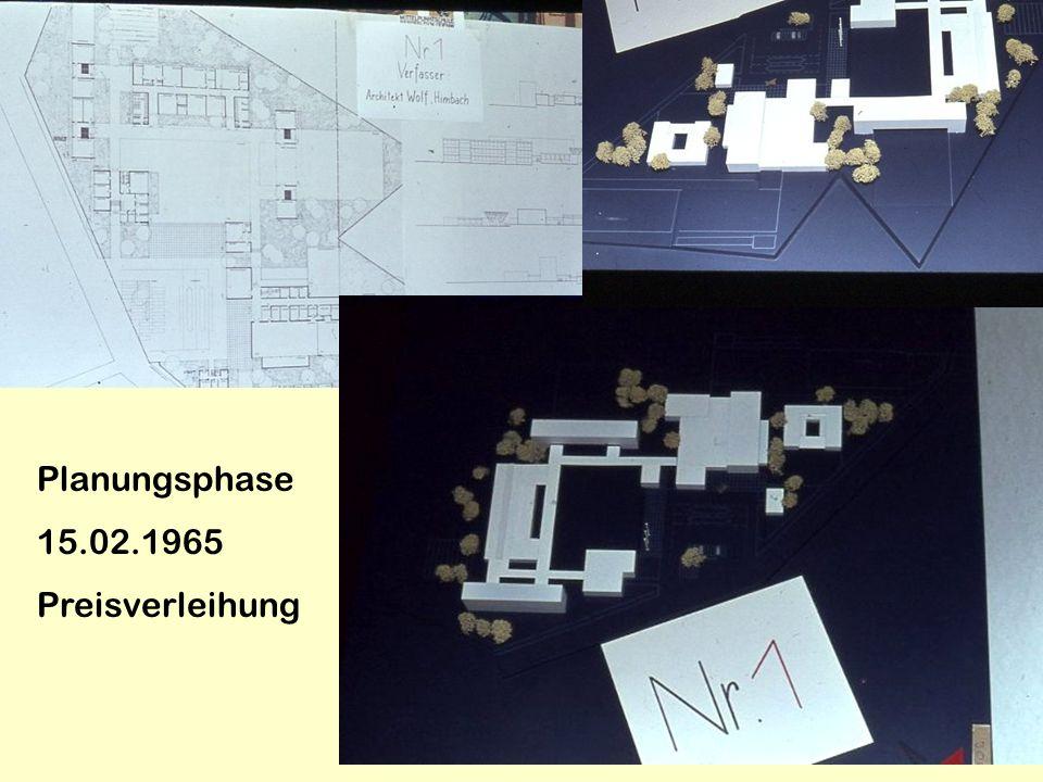 Planungsphase 15.02.1965 Preisverleihung