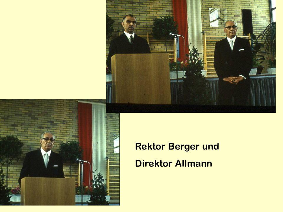 Rektor Berger und Direktor Allmann