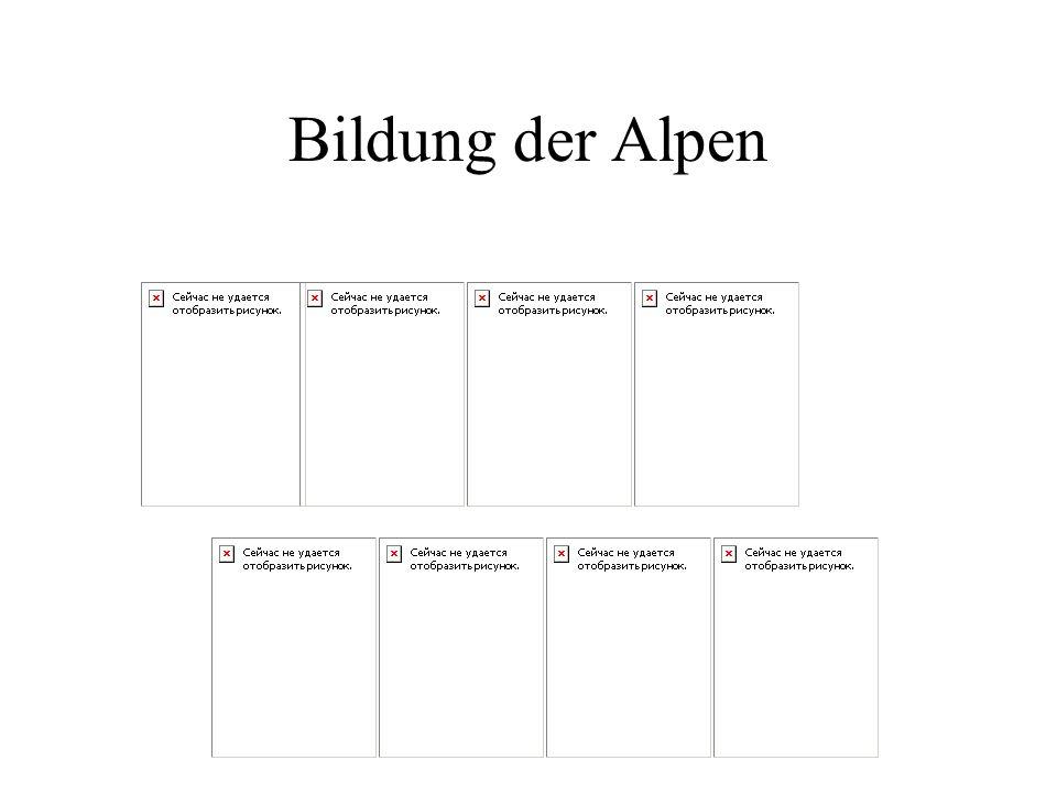 Bildung der Alpen