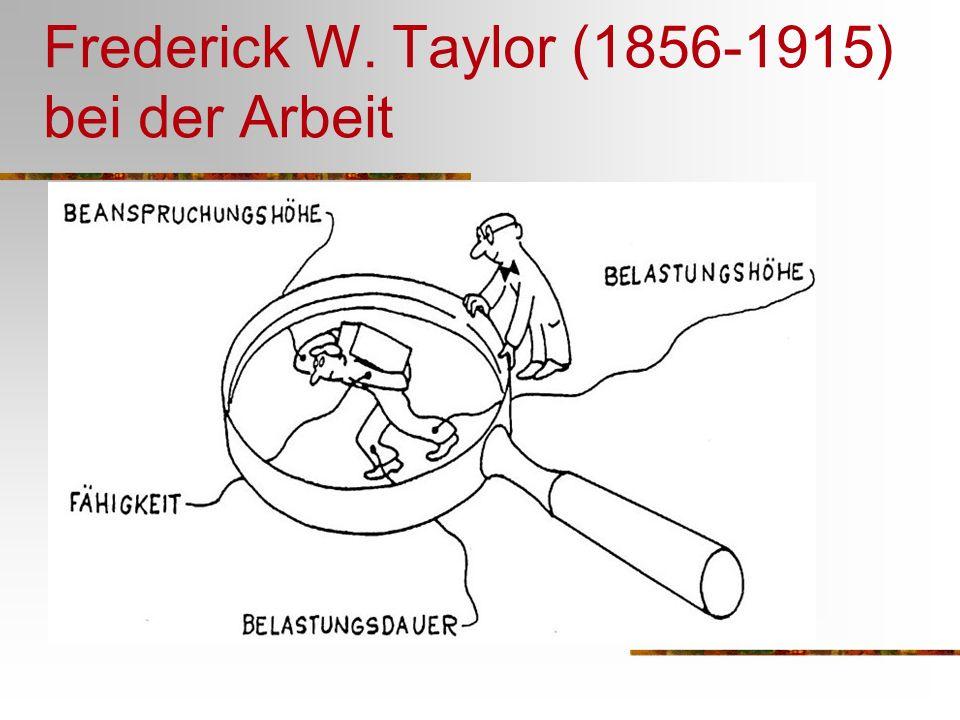 Frederick W. Taylor (1856-1915) bei der Arbeit