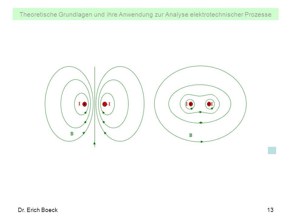 Theoretische Grundlagen und ihre Anwendung zur Analyse elektrotechnischer Prozesse Dr. Erich Boeck13 -I B I B I I